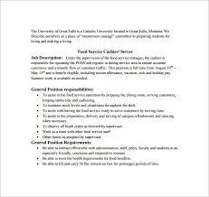 Bakery Clerk Job Description For Resume Cashier Job Description Head Cashier Job Description Sample