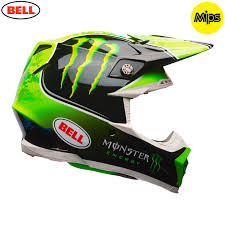 monster motocross helmets 2018 bell moto 9 mips tomac monster energy helmet black green