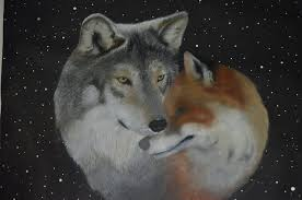 wolf and fox by domsolnca on deviantart