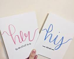 wedding vows card etsy