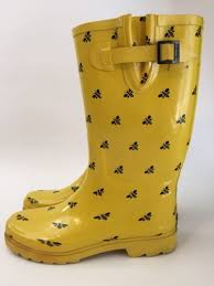 womens boots yellow chooka yellow 10 h2o duck rubber boots bees