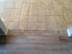 Tile Designs For Kitchens by Tile To Tile Transition Using A Mosaic New Tile Is Florida Tile