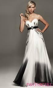 black and white dresses strapless black and white dress promgirl