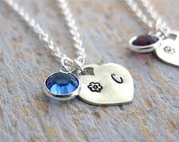 Children S Birthstone Necklace Children U0027s Initial Necklace Personalized Child Necklace