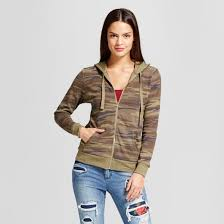women u0027s zip graphic hoodie grayson threads juniors u0027 camo green
