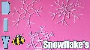 popsicle stick snowflake diy youtube