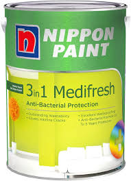 nippon paint 3 in 1 medifresh 5l 1379 colours interior paints