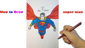 superman draw superman kids plt kids channel art