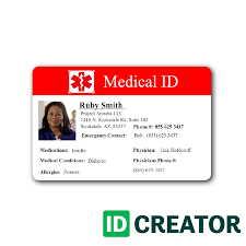 template undangan lop medical id card healthcare hospital badge pinterest medical