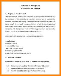 6 statement of work template consulting cv for teaching