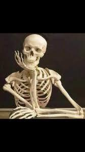 Skeleton Meme - skeleton waiting blank template imgflip