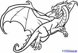 easy flying dragon coloring pages 1411 flying dragon coloring