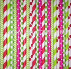 strawberry shortcake party supplies free shipping 300pcs strawberry shortcake party paper straws mixed 6
