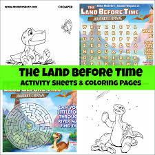 free land before time coloring and activity sheets mommy u0027s busy