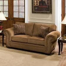 Chenille Sofa And Loveseat Simmons Upholstery Troy Bronze Chenille Sofa Furniture