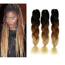 packs of kanekalon hair 3 packs ombre 24 kanekalon jumbo braiding hair extensions blonde