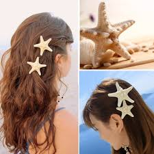 starfish hair clip white starfish barrette hair clip wedding bridal hair