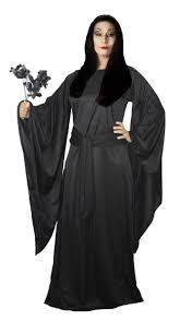 ladies the addams family black morticia halloween fancy dress