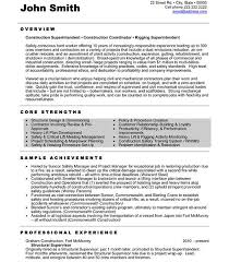 Resume Templates For Construction Workers Sample Construction Resume Template Construction Site Supervisor