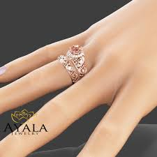 gold and morganite ring jewelry rings roseold wedding ring an35c gold morganite ring