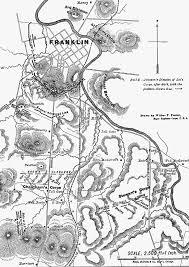 Franklin Maps Map Battle Of Franklin 30 November 1864
