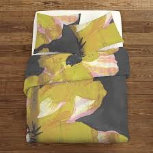 Yellow Patterned Duvet Cover Patterned Duvet Covers U0026 Shams West Elm