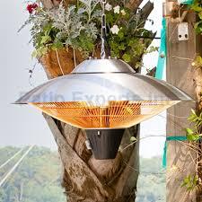 1500 watt hanging stainless steel halogen electric patio heater