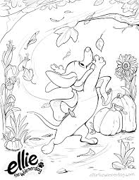 coloring pages ellie the wiener dog online coloring book