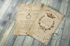 wedding invitations cork vintage