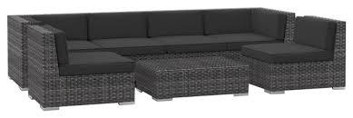 Patio Furniture Sofa by Oahu Outdoor Patio Furniture Sofa Sectional 7 Piece Set