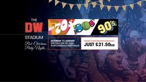 Christmas Party Nights Manchester - through the decades post christmas party night at dw stadium