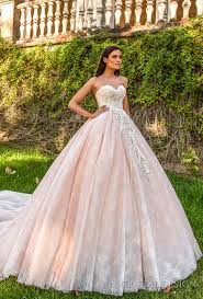 pink embroidered wedding dress beautiful wedding dresses from the 2017 design collection