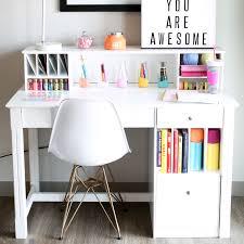 White Desk With Hutch Clara Wood Desk And Hutch White Walker Edison Furniture Company