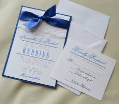 set of 20 royal blue wedding invitation white and royal blue
