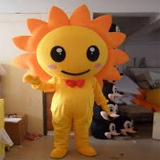 ems sunflower flower mascot costume fancy dress factory direct sun