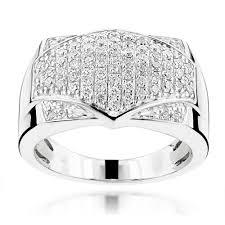 rings pave images Luxurman diamond rings mens pave diamonds band 14k gold 1ct jpg