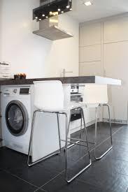 machine cuisiner cuisine blanche sans poignée avec ouverture par push lash plan de