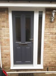Exterior Doors B Q by Altmore Composite Door Design With Simple Clear Glass In A