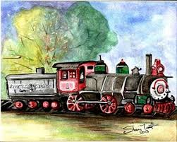 christmas train paintings 2 5 fine art america