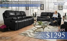 Black Reclining Sofa Reclining Living Sets U2013 All American Mattress U0026 Furniture