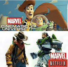 Buzz Lightyear And Woody Meme - marvel civil war 15 mcu vs marvel netflix memes ultimate comicon