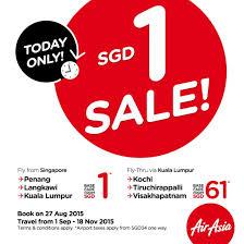 airasia singapore promo airasia 1 base fare promotion sg everydayonsales com