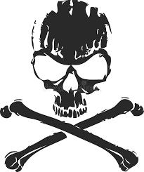abstract skull and cross bones stock vector illustration of