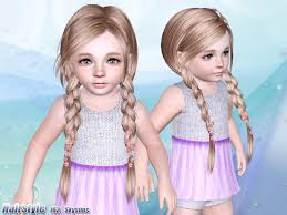 sims 3 hair custom content skysims hair toddler 163