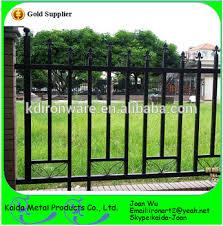 ornamental wrought iron fence design for garden park school view