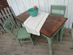 Modern Farmhouse Furniture Mini Farmhouse Table And Chairs Cool Light Green And Medium