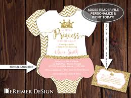 little princess baby shower invitation onesie invitation
