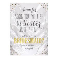 Asking Maid Of Honor Poem Will You Be My Bridesmaid Cards Zazzle