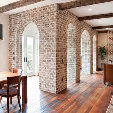 whitewashed brick interior archways will have brick when i build