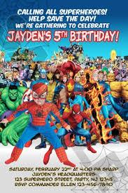superhero spiderman ironman birthday invitations photo printable